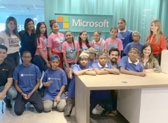 Microsoft incentiva el interés por la educación tecnológica a estudiantes del Programa Enlaces
