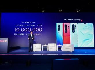 La aclamada Serie Huawei P30 rompe récord al vender 10 millones de unidades en 85 días