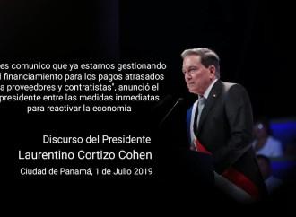 Cortizo Cohen promete limpiar la imagen del país y rescatar la economía