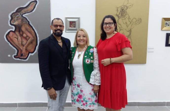 """Inauguran exposición """"Arte contra el Cáncer by Alessandra Rosas a beneficio de la Asociación Nacional contra el Cáncer"""""""