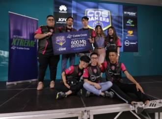 Equipo Guardianes de la Puerta (GDP), ganadores del COS GAMERS COPA INTERNET XTREME 2019 de Cable Onda