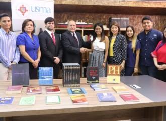 Ilustres abogados realizan donación de libros a la Biblioteca Jurídica Especializada de la USMA