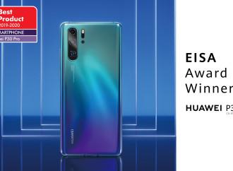 """Huawei obtiene el premio de EISA al """"Mejor Smartphone del año"""" por segundo año consecutivo con el Huawei P30 Pro"""