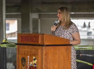 Ministra Zapata participa en clausura de campaña de seguridad del Suntracs