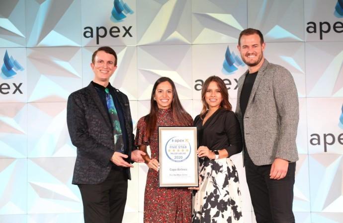 """Copa Airlines es reconocida como """"Aerolínea Cinco EstrellasAPEX 2020"""" por su servicio de clase mundial"""