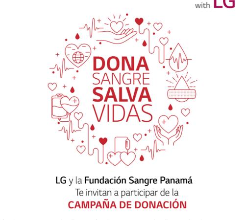 LG y Fundación Sangre Panamá invitan a participar de la campaña de donación de sangre