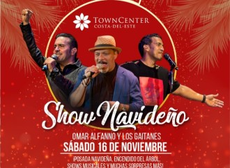 Omar Alfanno y Gaitanes encienden la Navidad en Town Center Costa del Este