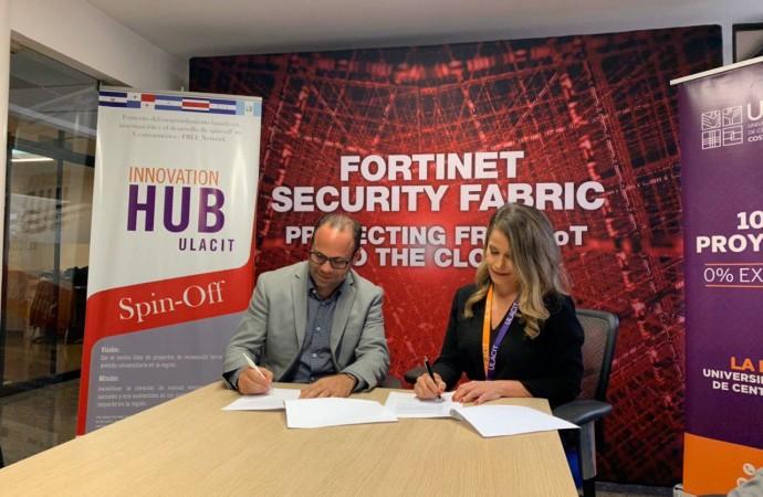 Fortinet firma acuerdo con ULACIT para capacitar a profesionales en ciberseguridad en Costa Rica