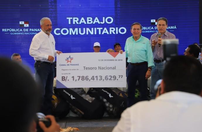 Aportes del Canal serán bien utilizados, afirmó presidente Cortizo Cohen