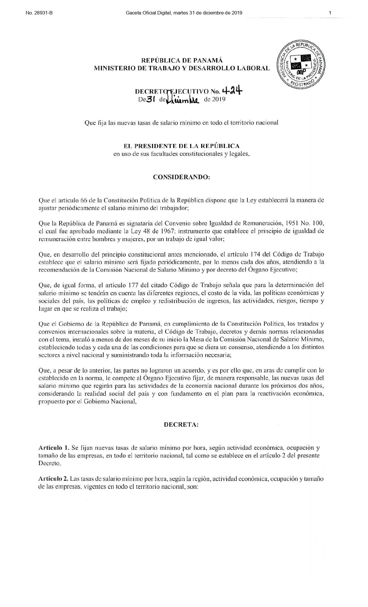 Decreto Ejecutivo No. 424 Salario Mýýnimo_page-0001