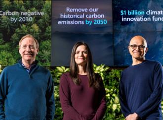 Microsoft anunció que eliminará más carbono del que emite para 2030