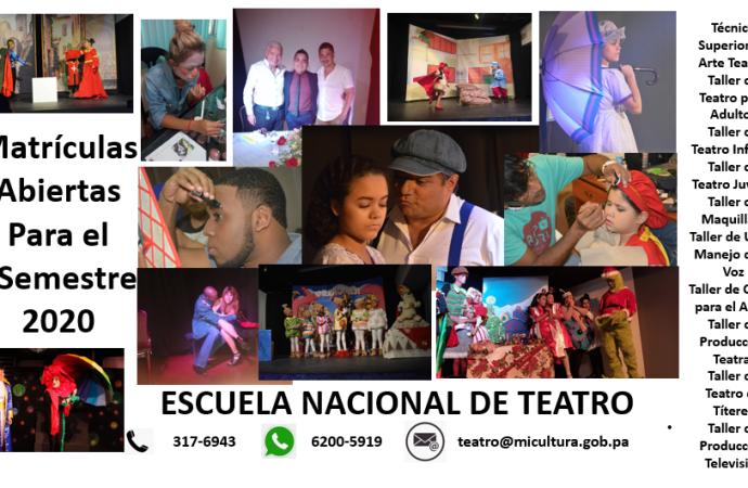 Escuela Nacional de Teatro realiza convocatoria al período de matrícula en Arte Teatral