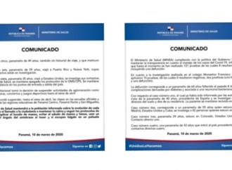 COVID-19: Autoridades confirman primer deceso en Panamá