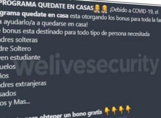 """ESET advierte sobre """"Quédate en casa"""": un engaño que busca robar información de los usuarios"""