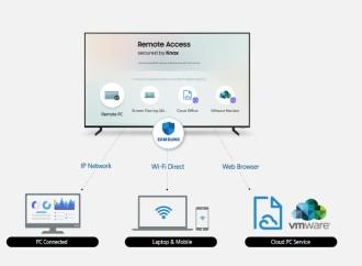 Más que un televisor. Trabaja, aprende y juega con Samsung Remote Access