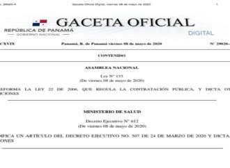 Ejecutivo sanciona nueva ley de contratación pública para más transparencia y agilizar procesos