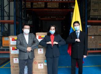 Colombia recibe donación del Gobierno de China para afrontar el COVID-19