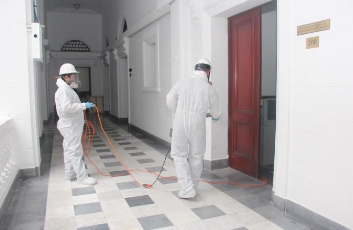 MiCultura realiza desinfección y fumigación en sus oficinas