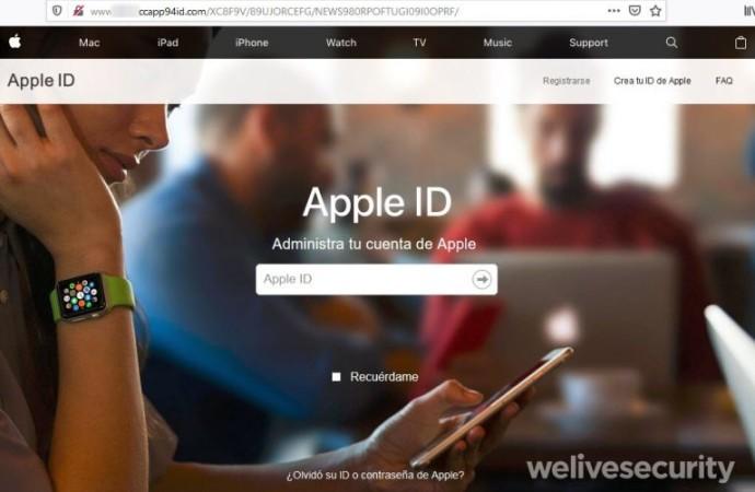 Engaño busca robar el ID de Icloud y datos financieros de los usuarios