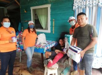 Leche y pañales desechables llegan a 75 familias con niños con discapacidad