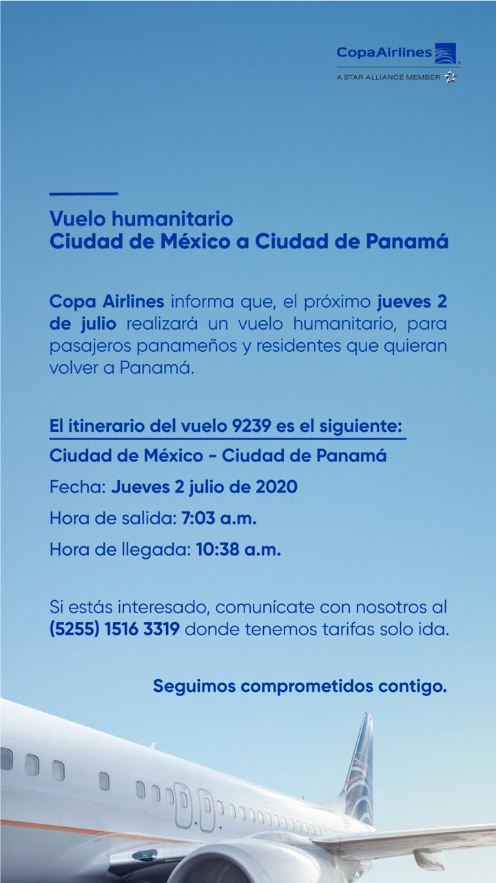 Vuelo Humanitario desde México hacia Panamá