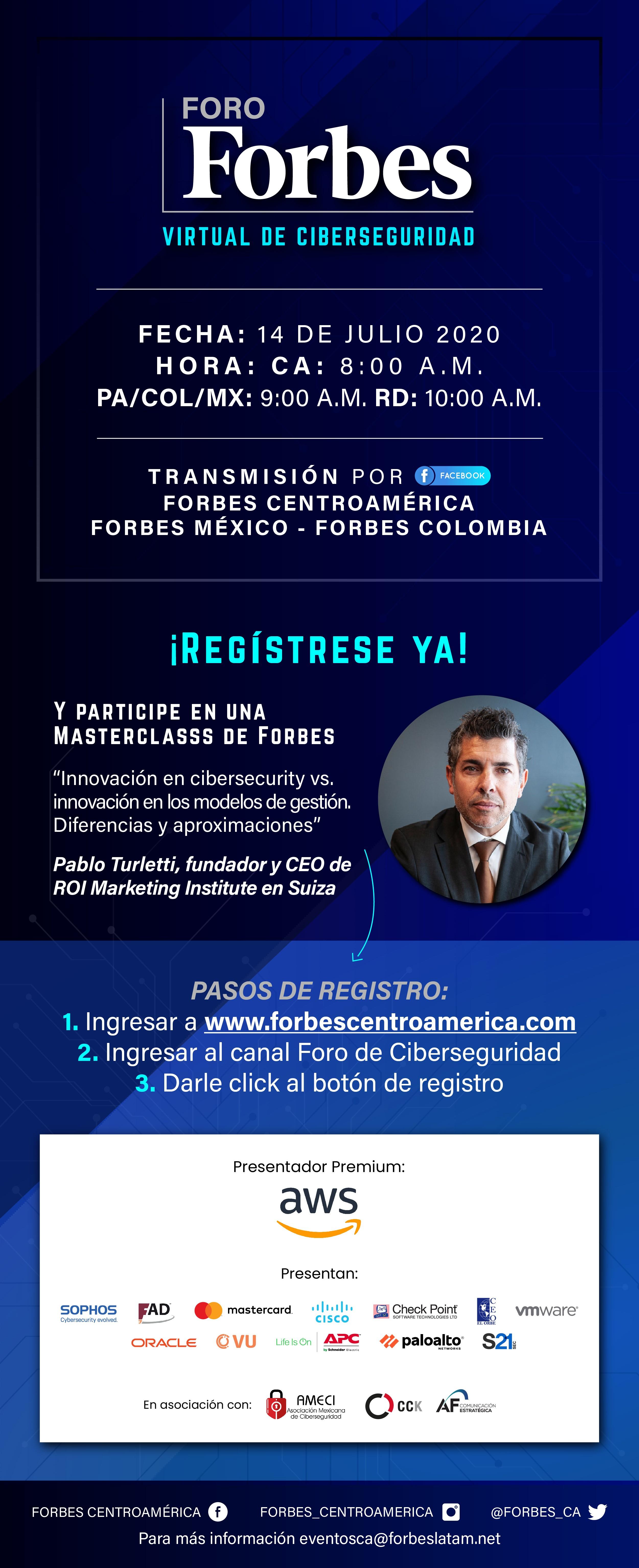 Diseño Foro Forbes Ciberseguridad 2020
