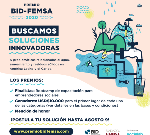 BID y Fundación FEMSA premian la innovación en agua, saneamiento y residuos sólidos