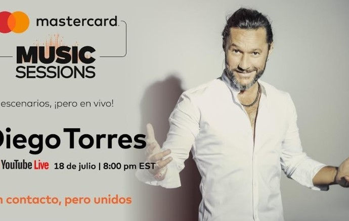 Diego Torres se integra a la colección de experienciasdigitales en casa de Mastercard