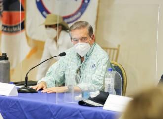 Presidente Cortizo Cohen inspecciona centro de convenciones que está siendo habilitado para recibir pacientes Covid-19 positivos