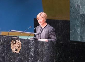 Primera Dama Castillo de Varela sustenta ante Asamblea General de Naciones Unidas que mayor financiación es clave para eliminar el VIH/SIDA