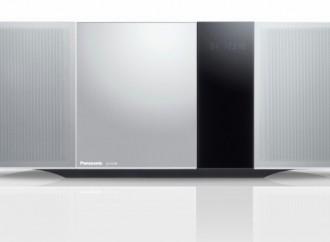 Conozca el minicomponente de Panasonic:Sonido claro y dinámico en un cuerpo delgado