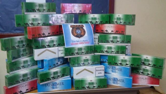 Aduanas retiene cigarrillos de presunto contrabando Zona Central y Azuero