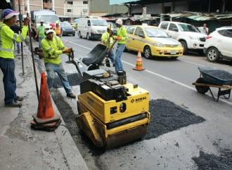 MOP ejecutó trabajos de mantenimiento en Avenida Central, Perú y Omar Torrijos