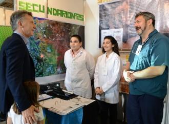 El presidente Mauricio Macri visitó la Feria Nacional de Innovación Educativa 2017 en Tecnópolis