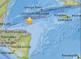 Alerta de Tsunami tras sismo de 7.6 al este de Great Swan Island, Honduras