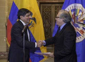 Ecuador presenta a nuevo embajador ante la OEA