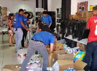 Samsung ayuda a afectados por incendio en San Felipe