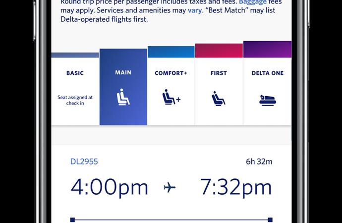 Embarque simplificado: Delta incluye marcas según tarifas de compra al orden de embarque y lanza una paleta de colores para unificar el proceso