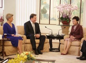 Presidente Varela y la Jefa Ejecutiva de Hong Kong lanzan agenda bilateral enfocada en la conectividad