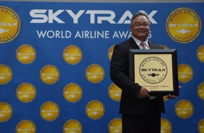 """Copa Airlines reconocida como """" La Mejor Aerolínea de Centroamérica y Caribe"""" por los Skytrax Awards 2019"""