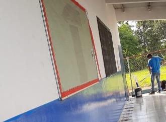 Miviot realiza mejoras y reparaciones de escuelas para el inicio del año escolar 2020