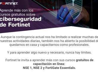 Fortinet pone a disposición cursos gratuitos de capacitación en línea sobre ciberseguridad