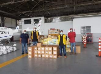 Club Activo 20-30 de Panamá en y el SENAN hacen entrega de alimentos e insumos a Islas