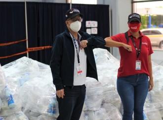 A través de Aliarse y el Programa Panamá SolidarioFundación Coca-Cola dona bolsas alimenticias para 1,232 familias