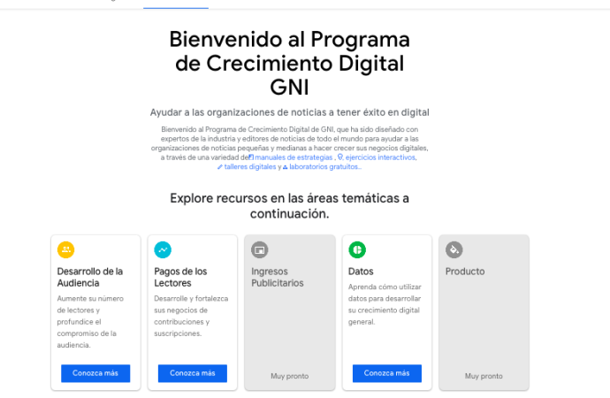 Google News Initiative: Herramientas para acelerar el crecimiento de tu negocio