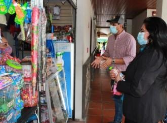 Alcalde de la Pintada y comitiva de Coclé visitan, Mercado de Boquete
