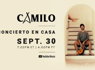 YouTube y Camilo te invitan a un exclusivo concierto en casa en vivo