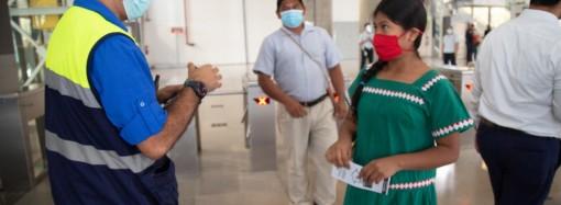 Mitradel realiza volanteo sobre bioseguridad en el Metro de San Miguelito