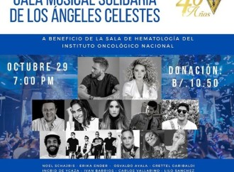 Asociación de Amigos y Voluntarias del Instituto Oncológico Nacional invitan a la Gala Musical Solidaria de los Ángeles Celeste