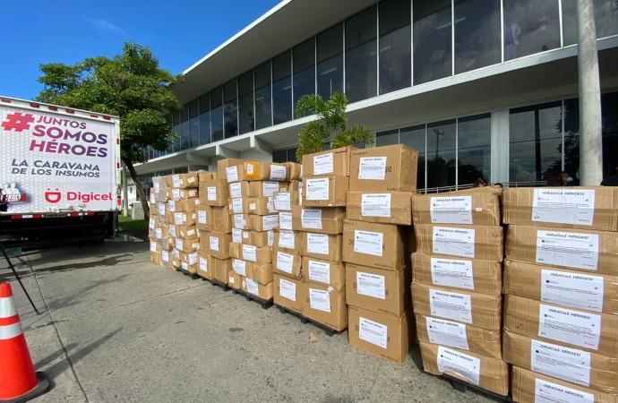 Digicel dona 456 mil insumos médicos a los héroes de la salud en Santiago, David y Aguadulce